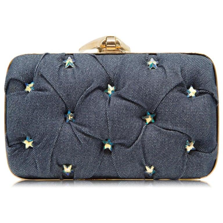 Black Benedetta Bruzziches Carmen Clutch Bag For Sale