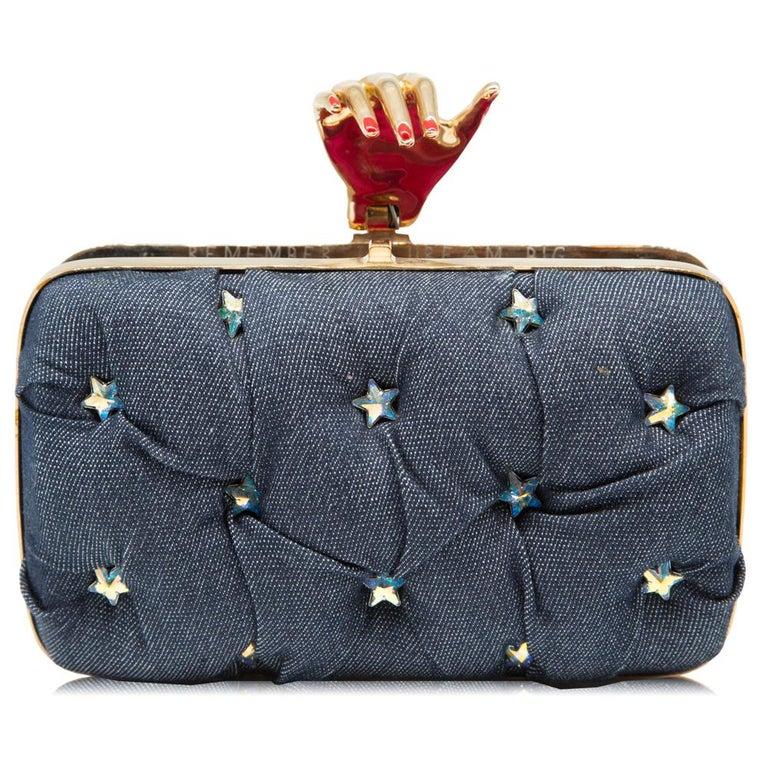 Benedetta Bruzziches Carmen Clutch Bag In Excellent Condition For Sale In London, GB