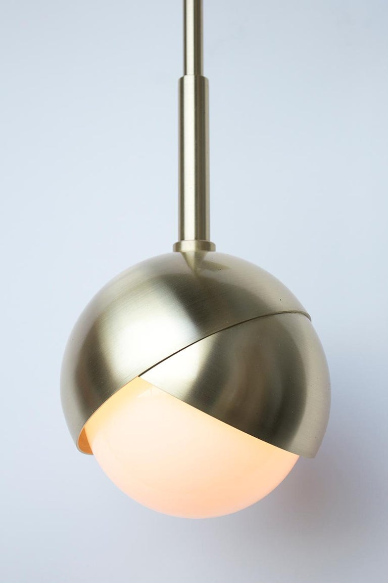 Other Benedict Wall Sconce in a Satin Brass Finish with White Opal Glass For Sale