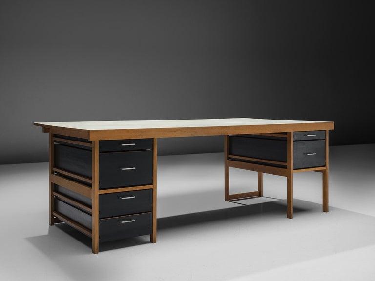 Swiss Benedikt Rohner Oak Desks for Oswald For Sale