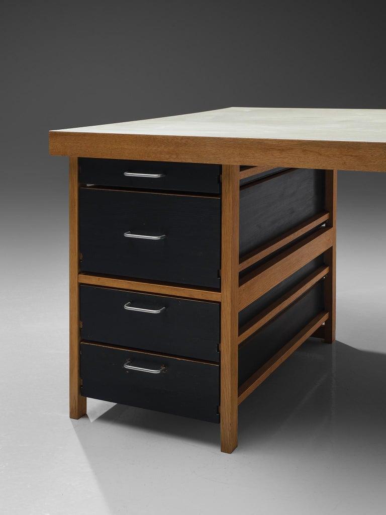 Benedikt Rohner Oak Desks for Oswald In Good Condition For Sale In Waalwijk, NL