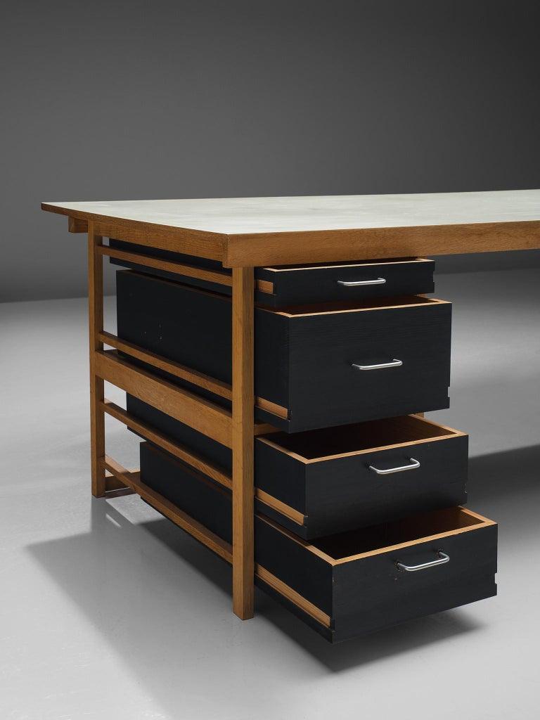 Mid-20th Century Benedikt Rohner Oak Desks for Oswald For Sale