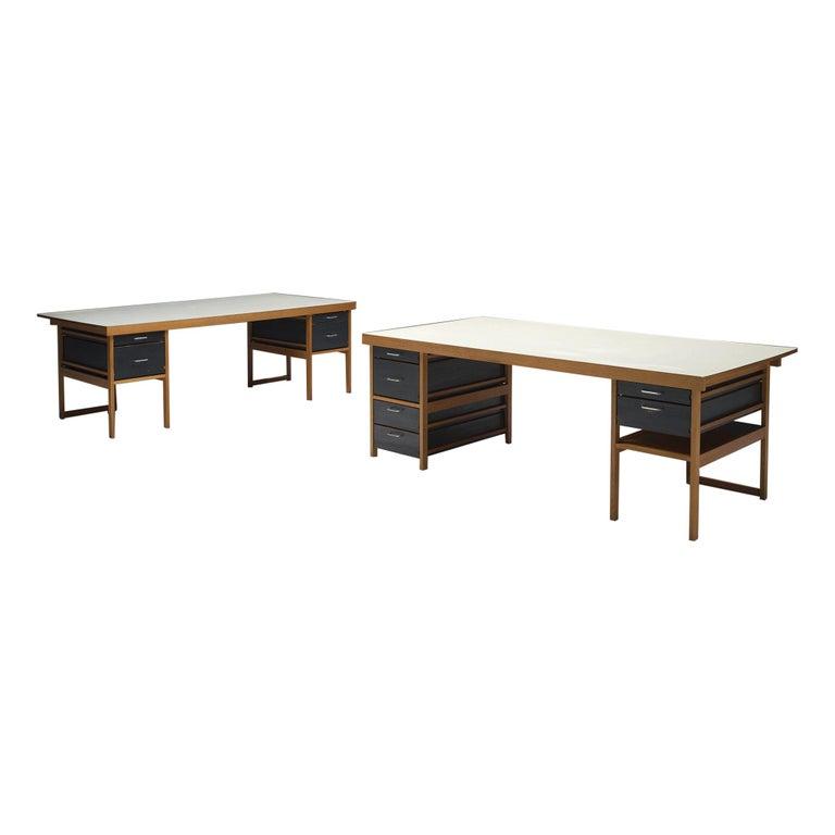 Benedikt Rohner Oak Desks for Oswald For Sale