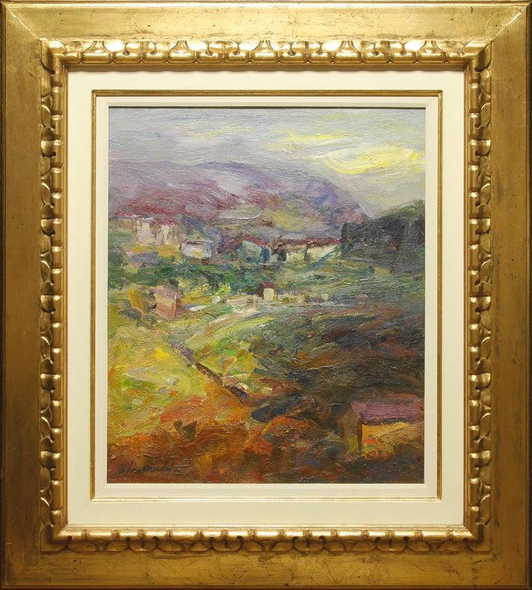 """Benet Sarsanedas Landscape Painting - """"Returning Home"""" by Benet Sarsaneda 26 x 21 inch Oil on Canvas"""