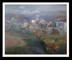 """Rupit"".  Original landscape Oil canvas painting 1975"