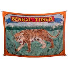 """""""Bengal Tiger"""" Circus Banner, circa 1940s"""