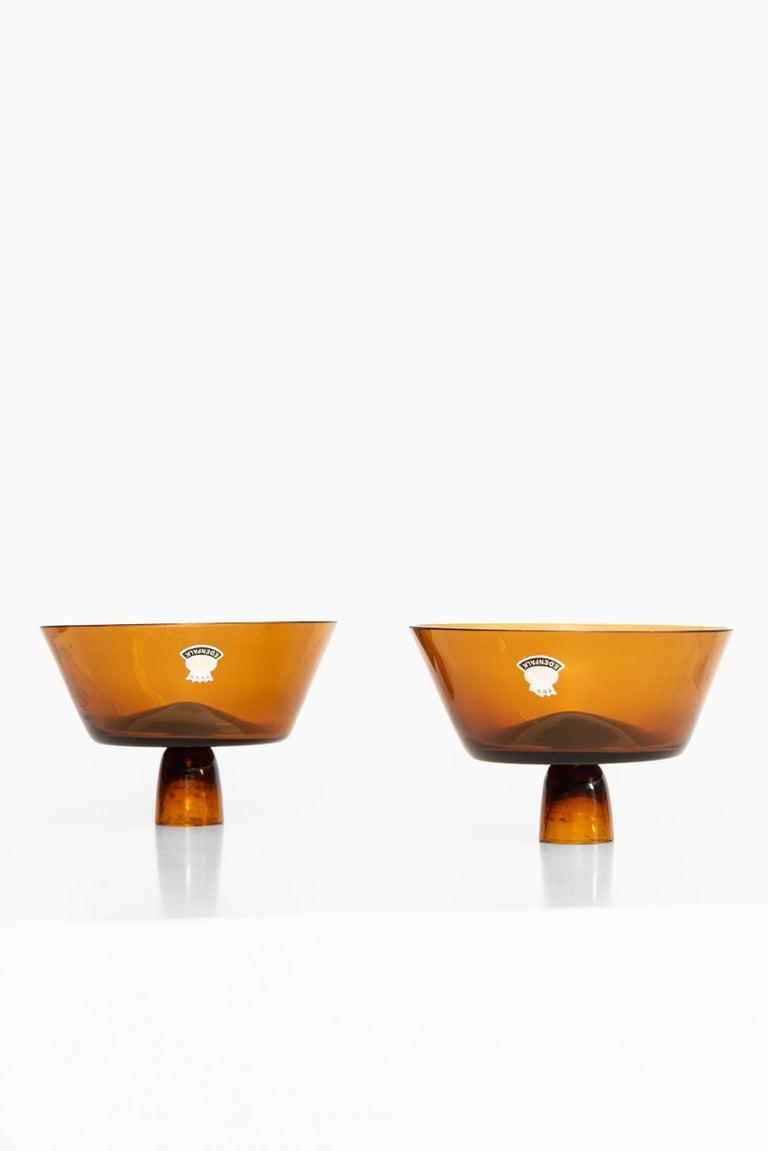 Scandinavian Modern Bengt Edenfalk Candlesticks / Vases Produced by Skruf in Sweden For Sale