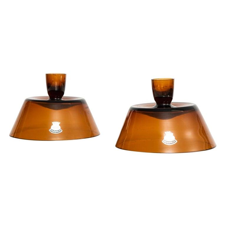 Bengt Edenfalk Candlesticks / Vases Produced by Skruf in Sweden For Sale