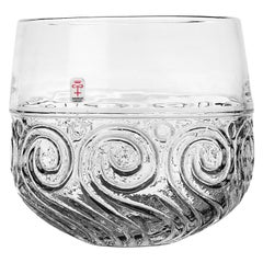 Bengt Edenfalk Glass Bowl Skruf Sweden 1960s