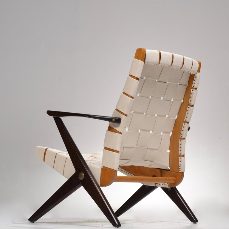 Bengt Ruda Easy Chairs by Nordiska Kompaniet, Sweden In Excellent Condition In Los Angeles, CA