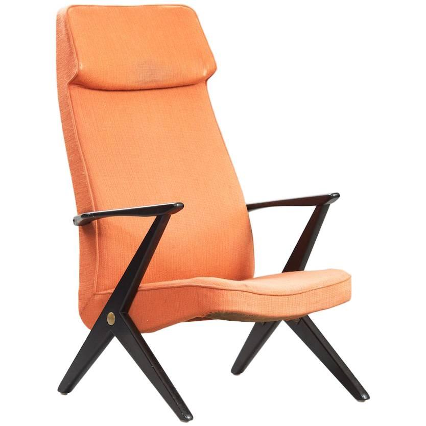 "Bengt Ruda Midcentury High Back ""Triva"" Chair for Nordiska Kompaniet"