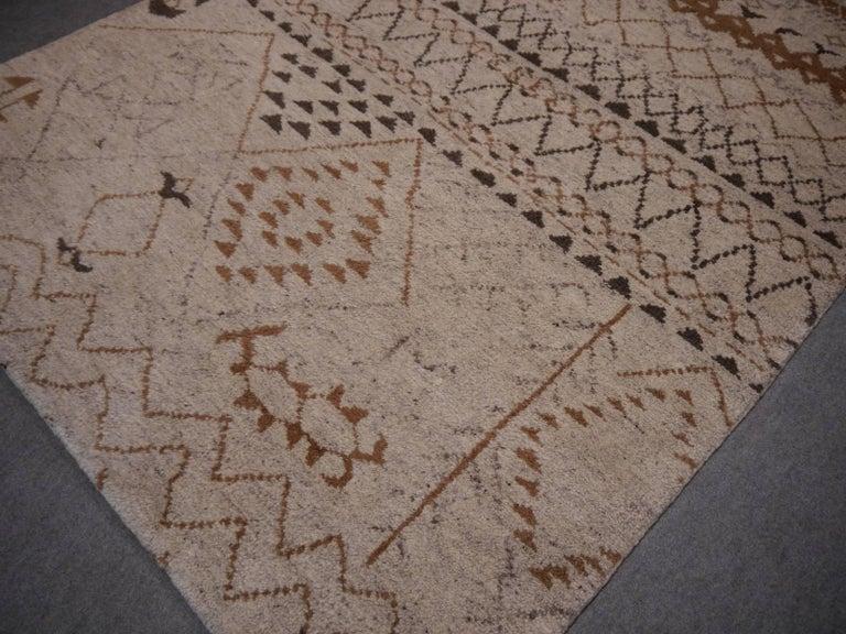 Tribal Beni Ahmad Moroccan Design Contemporary Rug For Sale
