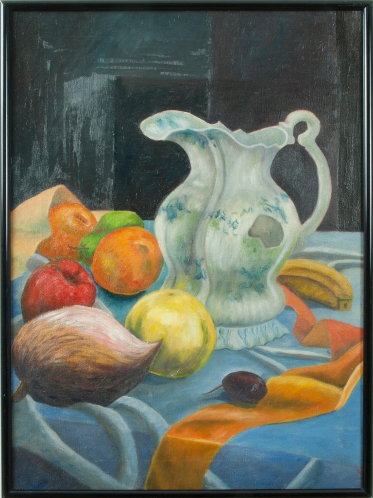 Beni E. Kosh Still-Life Painting - Still Life with Fruit and a Pitcher