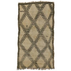 Beni Ourain Vintage Berber Moroccan Rug with Modern Bauhaus Style