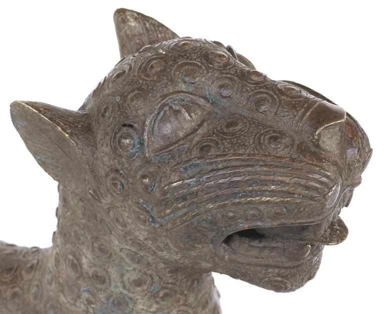 Nigerian Benin 'Nigeria' Bronze Sculptures of Leopards, Modern Replicas For Sale