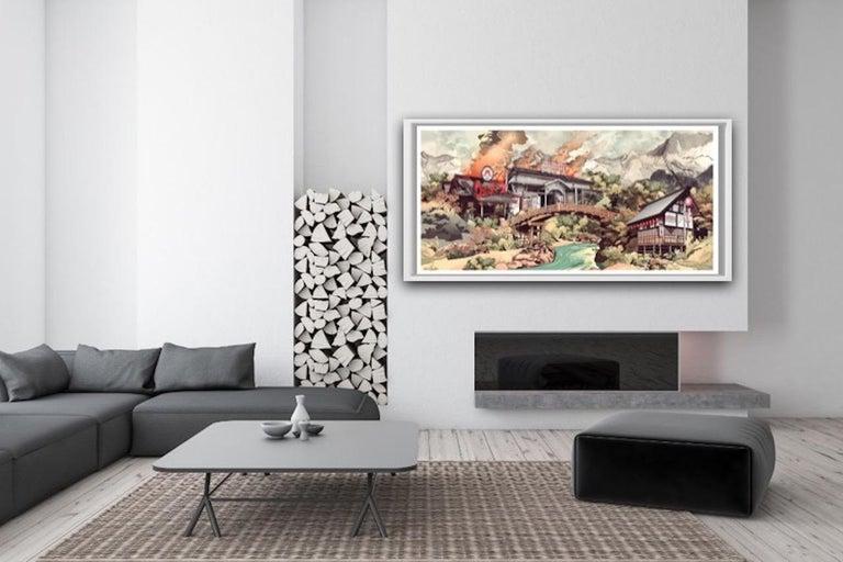 Wendy's Under Siege BY BENJAMIN BUCKLEY, Statement Art, Large Political Art For Sale 1