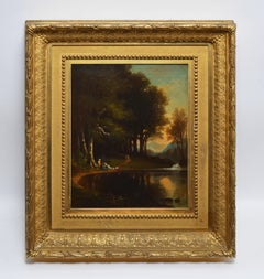 Antique American Hudson River School Landscape by Benjamin Champney