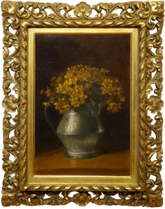 Still Life of Yellow Flowers by Benjamin Champney