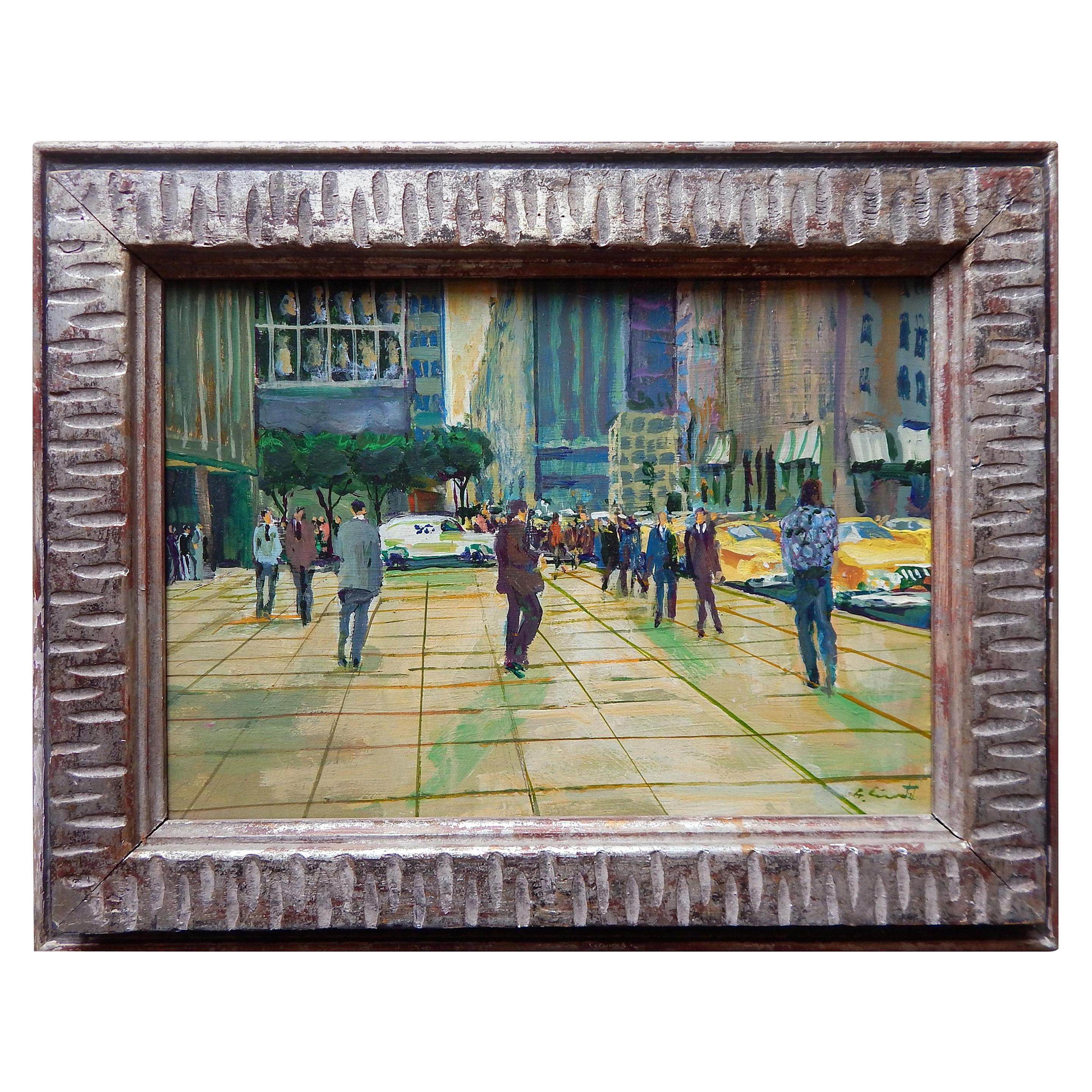 Benjamin Eisenstat, New York/Philadelphia Artist, Oil on Board, 1981