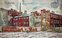Society Hill, Philadelphia (Urban cityscape painting)