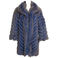 Benjamin Fourrures blue fox fur coat, c. 1980