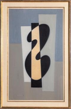 Andromeda, Modern Abstract Painting by Benjamin Benno 1959