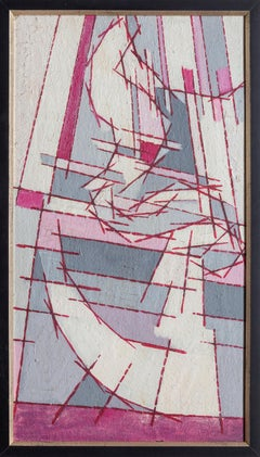 Height and Depth, Modern Abstract Painting by Benjamin Benno 1951