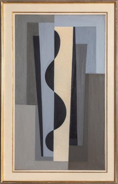 Perseus, Modern Abstract Painting by Benjamin Benno 1959