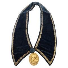 Benjamin Harrison Indian Peace Medal on Presentation Collar, 1889