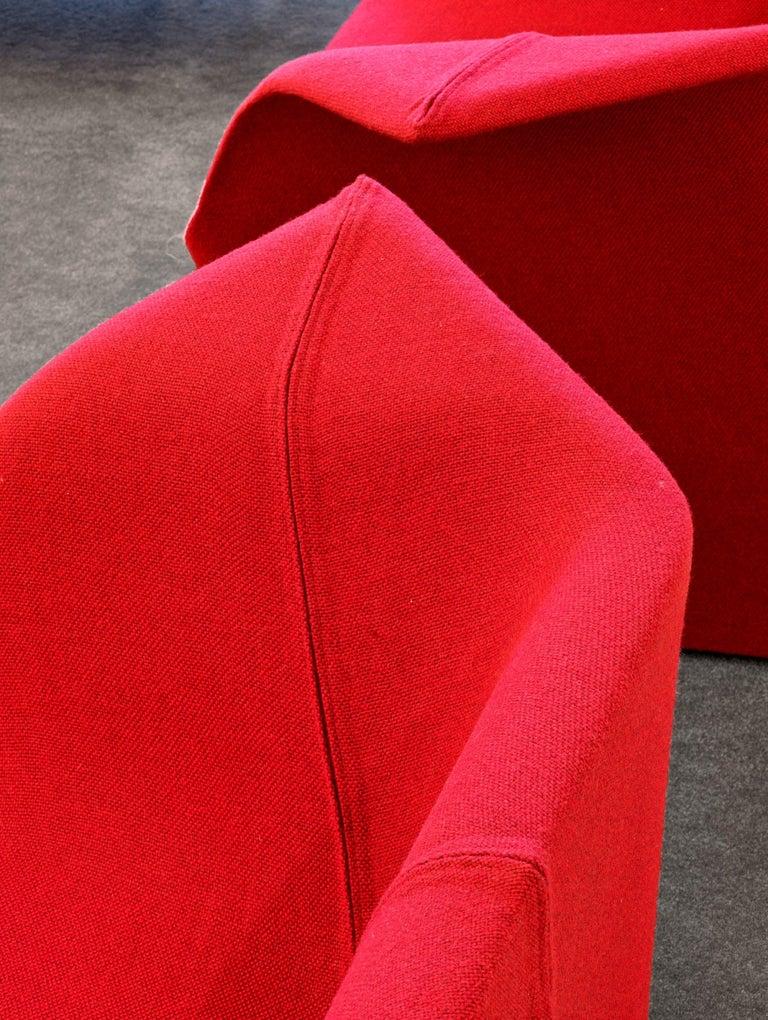 Metal Benjamin Hubert Garment Armchair in Cream Leather for Cappellini For Sale
