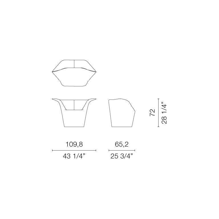 Benjamin Hubert Garment Armchair in Cream Leather for Cappellini For Sale 1