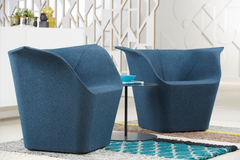 Italian Benjamin Hubert Garment Armchair in Fabric or Leather Upholstery for Cappellini For Sale