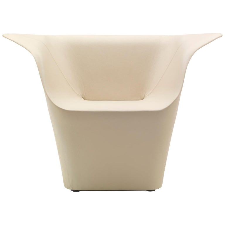 For Sale: Beige (Leather 914) Benjamin Hubert Garment Armchair in Fabric or Leather Upholstery for Cappellini