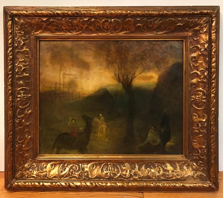 The Hunters - Variations in Brown - Green - Painting by Benjamin Kopman