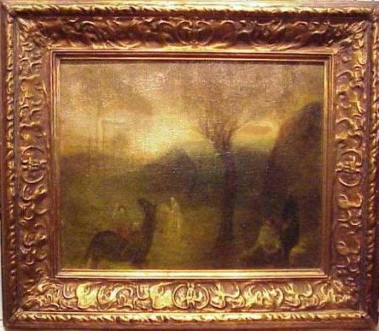 Benjamin Kopman Landscape Painting - The Hunters - Variations in Brown - Green