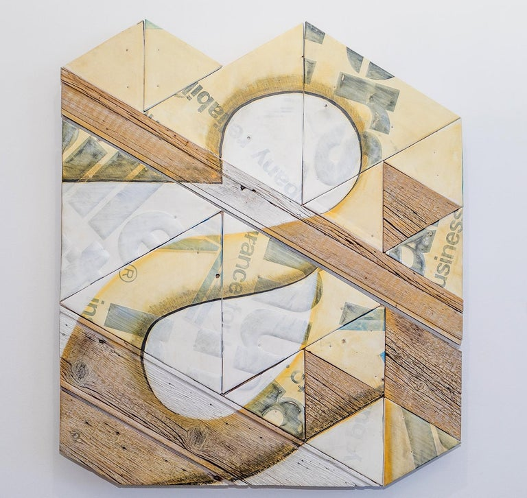 Benjamin Lowder Still-Life Sculpture - Contemporary Mixed Media Wall Sculpture, Assembled and Painted Wood and Metal