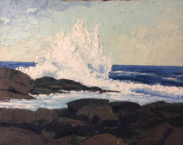 Benjamin Lussier Landscape Painting - At Christmas Cove