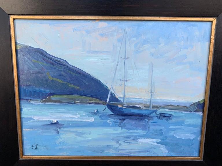 Still Harbor - Painting by Benjamin Lussier