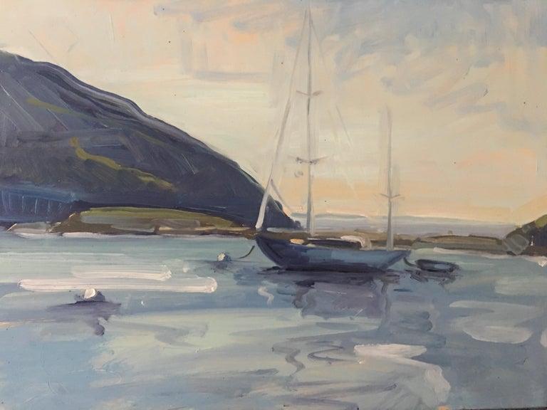 Benjamin Lussier Landscape Painting - Still Harbor