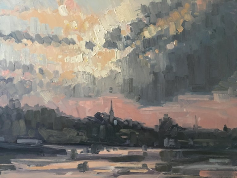 Benjamin Lussier Landscape Painting - Sunset Over Portsmouth