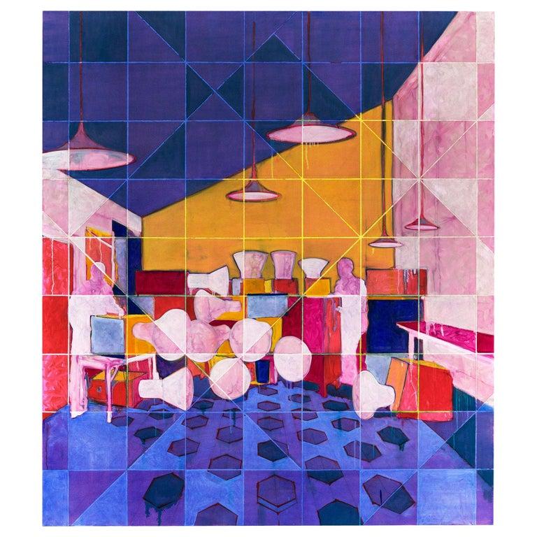 "Benjamin Rankin Modern Painting ""The Art of Noises"", 2014 For Sale"