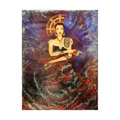 """""""De Flamencos y Manolas"""" Large Colorful Modern Figurative Spanish Portrait"""