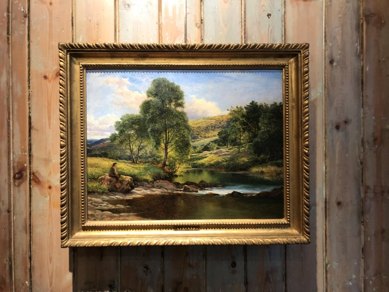 Llugwy At Capel Curig - Painting by Benjamin Williams Leader