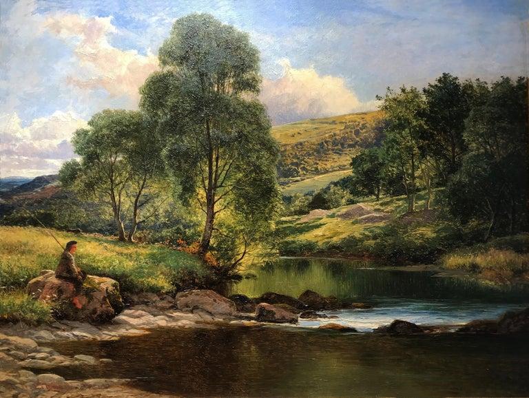 Benjamin Williams Leader Landscape Painting - Llugwy At Capel Curig