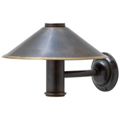 The Jamb Benn Light 1920s Sconce Conical, Reeded or Studded Shade