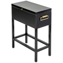 Bennett Rectangular Box Table with Lid and Brass Hardware