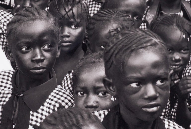 Black and White (School children in Gambia, West Africa) - Photograph by Benno Thoma