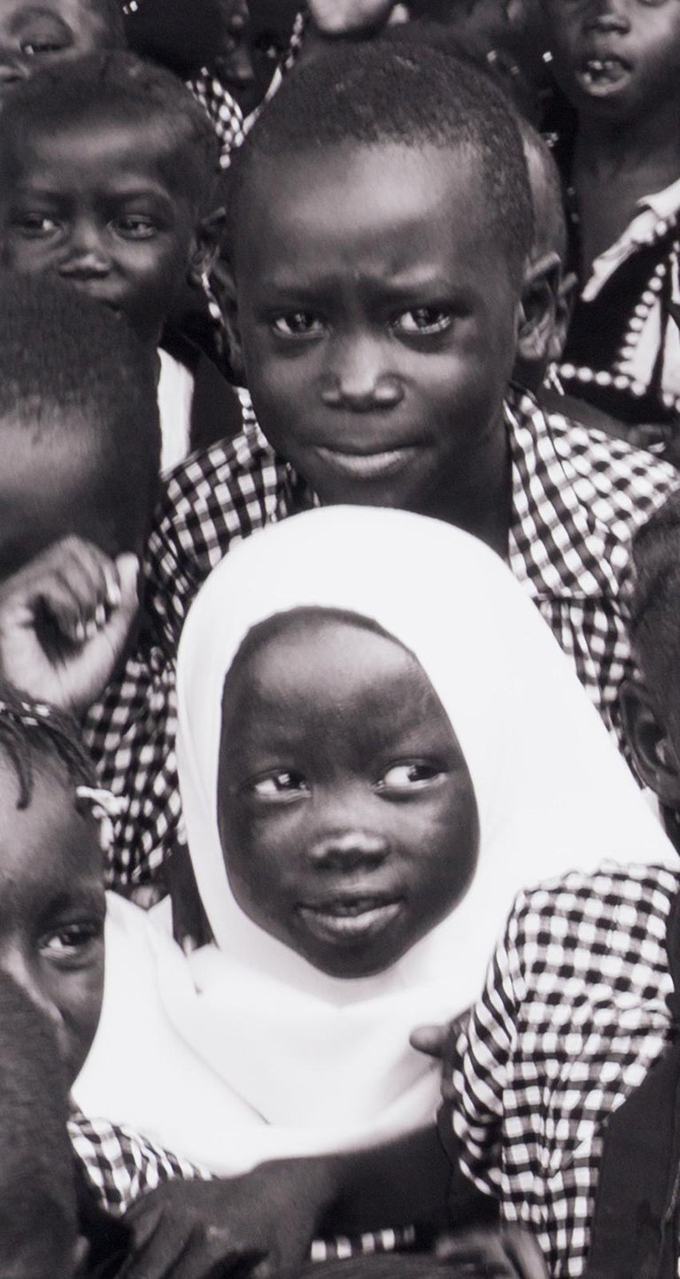 Black and White (School children in Gambia, West Africa) - Contemporary Photograph by Benno Thoma