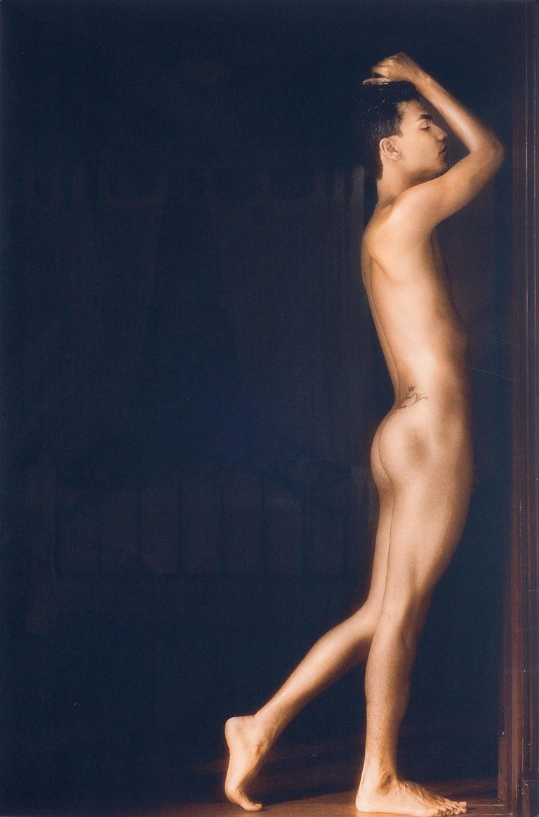 Benno Thoma Nude Photograph - Golden Boy (Nude model in amazing light of old Colonial house in Cali, Colombia)