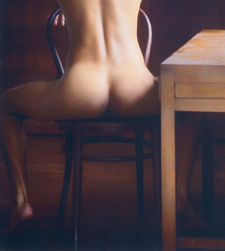 Looking Out (nude male Bel Ami model in Colombia seated in old colonial house) - Contemporary Photograph by Benno Thoma